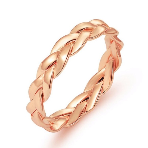 18e5ffa9e Cran's Closet Jewelry | Hp Rose Gold Braided Ring Band | Poshmark